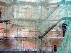 Одним из направлений в реставрации этого храма было восстановление фасадов, в частности, южного и восточного. Основную часть восточного фасада составляли апсиды древнего храма, поэтому при предыдущей реставрации Давид уделил им все свое внимание. По прошествии после ее завершения около 50 лет апсиды сохранили относительно нормальный вид, за исключением шелушащейся краски.