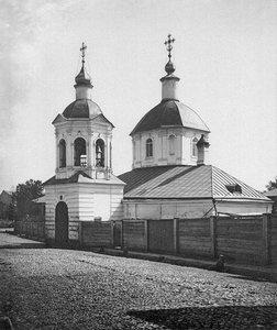 Московская церковь Сергия в Крапивниках, близ Петровского бульвара. 1881 год