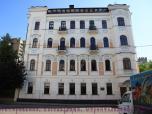 Реставрация фасада общий вид.Москва ,  Хлебный переулок 26 2004г.
